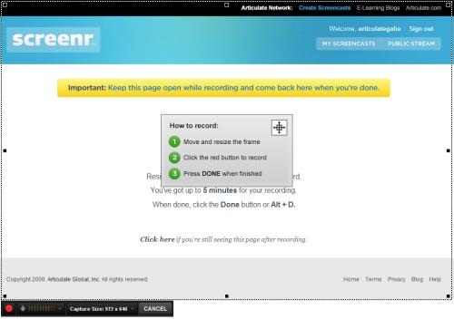 screenr recording window