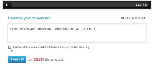 screenr tweet it